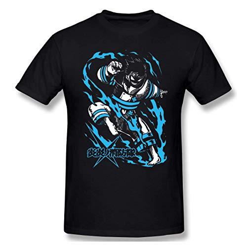 Dfeir Anime Fire Force Enen No Shouboutai - Shinra Kusakabe,Camiseta de Manga Corta Estampada Divertida para Hombre Top Suave