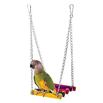 KOTiger pour Animal Domestique Oiseau Perroquet Perruche Perruche calopsitte élégante Cage Hamac Swing Jouet à Suspendre Accessoires