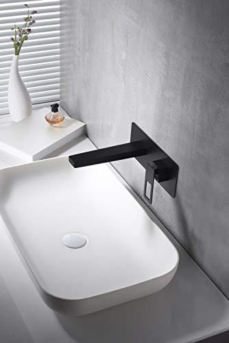 Grifo de lavabo empotrado Imex Suecia Negro BDC032-4NG