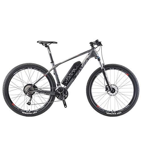 SAVADECK e-Bike, Bicicleta eléctrica Knight 3.0 con Cuadro de Carbono E-MTB asistida por Pedal con Shimano Altus M2000 27 Marchas...