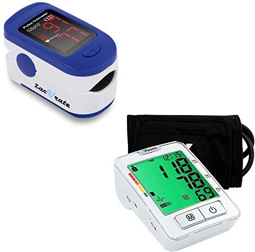 Zacurate 500BL Fingertip Pulse Oximeter and Vaunn Blood Pressure Monitor Bundle