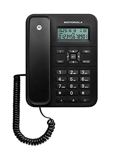 Motorola CT202 - Teléfono Fijo Digital (Pantalla LCD), Negro