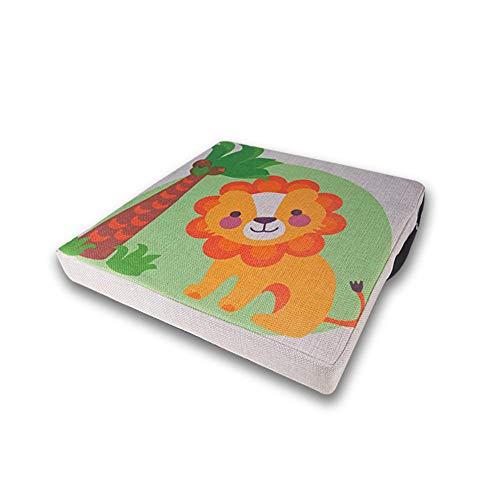 SNIIA Asiento Elevador para bebé niño pequeño Infantil Desmontable Ajustable Lavable Cojín Elevador para niños con Correas Almohadillas para sillas de Comedor Cojín Que Aumenta- 33x33x4.5cm Kindness