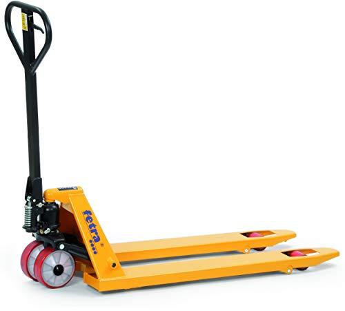 Premium Gabelhubwagen Traglast: 2000 kg - Handhubwagen wartungsfrei | Polyurethan-Bereifung | Hubwagen für Paletten | Palettenhubwagen für Lager & Werkstatt
