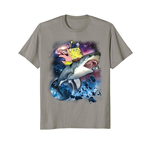 Spongebob SquarePants & Patrick Shark Riding T-Shirt