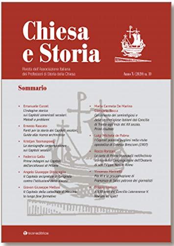 Chiesa e storia. Rivista dell'Associazione Italiana dei Professori di Storia della Chiesa (Vol. 10)