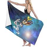 shetaonongbaihuodian Looney Tunes Bugs Bunny & Taz Tweety Badetücher Beach Hotel Spa Handtuch Schnelltrocknende Decke (32in 52in)