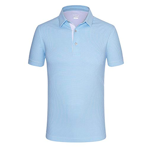 Kurzärmliges Herren-Poloshirt von EAGEGOF, normale Passform, Stretch-Tech-Performance - - Klein