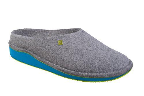myVALE myVALE Wombat Turquoise Filzschuh mit nach Fußabdruck individuell optimiertem Fußbett