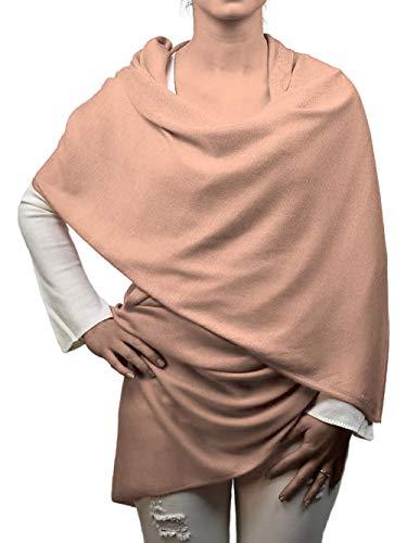 DALLE PIANE CASHMERE - Stola aus 70% Kaschmir 30% Seide - für Frau, Farbe: Rosa Nude, Einheitsgröße