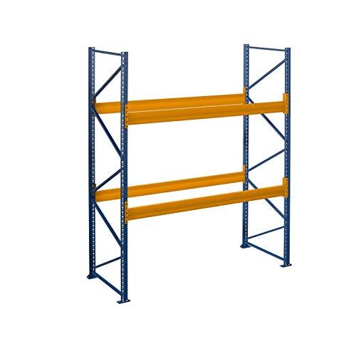 Palettenregal Schwerlastregal 2.00 m x 2.50 m (LxH) - 1 Feld/er Fachlast 2050 kg mit 6 Stellplätze