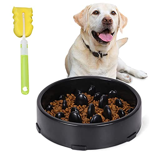 Hundenapf Slow Feeder,langsame Fütterung Hundenapf, Interessanter interaktiver Hundenapf,Anti-Schling-Napf für Hunde und Katzen,Reduziert Verschlucken und Überessen (a)