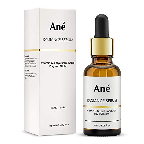 Ané Radiance Serum - Vitamin C & Hyaluronic Acid Anti-Ageing Face Serum - Protect, Repair, Hydrate and Plump - Help Minimise Early Signs of Ageing