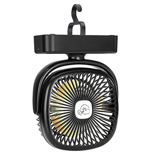 Wr Fan portátil de la Linterna Que acampa, lámpara al Aire Libre de la Fan de la Tienda de la luz del LED con el Gancho Colgante