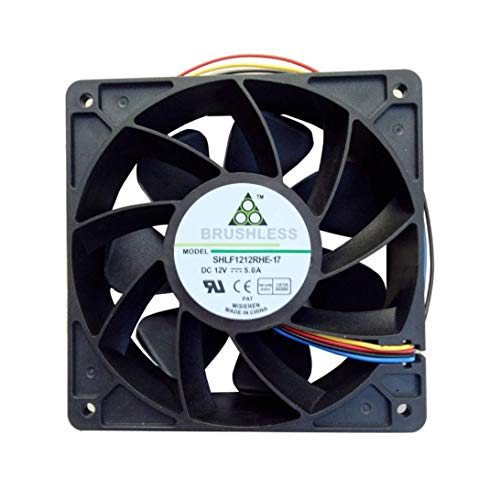 Jonerytime7500RPM Cooling Fan Replacement 4-pin Connector for Antminer Bitmain S7 S9 Black