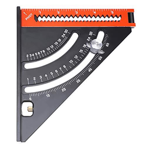 YOUJING Regla, Regla Cuadrada Triangular de goniómetro Base, Herramienta Extensible de carpintería magnética