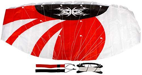SCHREUDERS SPORT Unisexe Airow Polyamide Grial 140 Parachute, Rouge/Blanc/Noir, Taille Unique