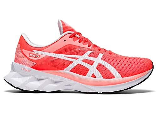 ASICS Women's Novablast Tokyo Running Shoes, 9M, Sunrise RED/White