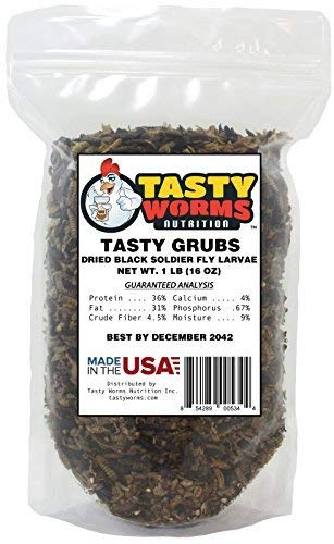 Tasty Grubs 1lb Dried Black Soldier Fly Larvae Bag Made in USA