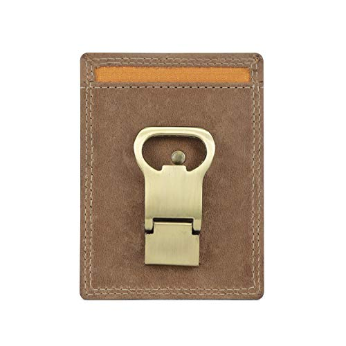 Timberland PRO Leather Front Pocket Wallet with Money Clip Accesorio, Trigo, Talla...