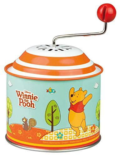 Bolz 52767 Disney Winnie l'Ourson The Pooh Party Orgel - Boîte de rotation en métal avec mélodie Boléro, Multicolore - Version Allemande