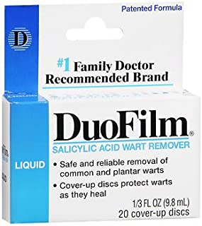 DuoFilm Salicylic Acid Wart Remover Liquid - .33 oz, Pack of 5