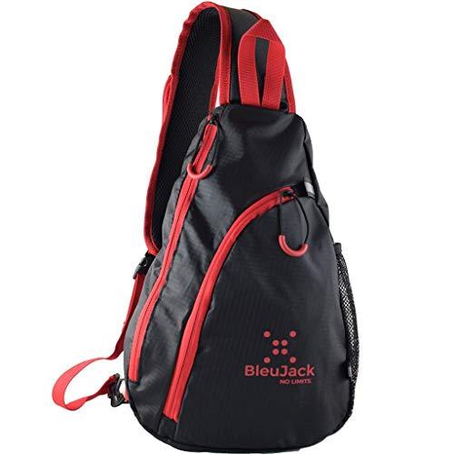 bleujack Sling Mochila–Cruz Cuerpo–Luz Peso viajes Bag- senderismo pesca gimnasio biking- daypack- multiusos resistente al agua Material