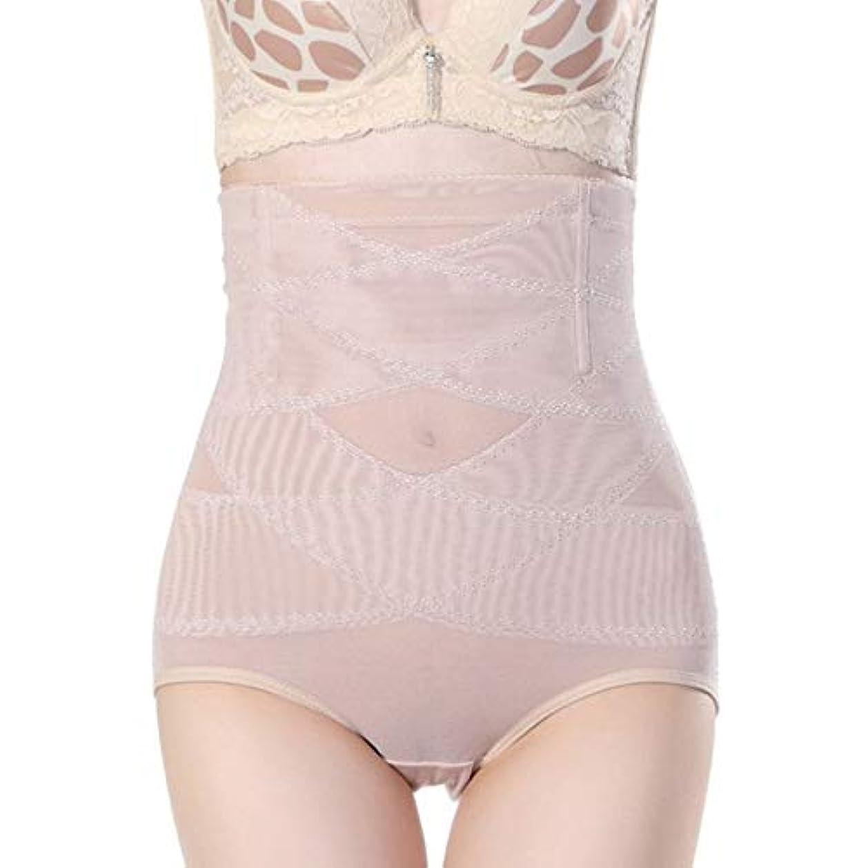 ブラウス批判的カール腹部制御下着シームレスおなかコントロールパンティーバットリフターボディシェイパーを痩身通気性のハイウエストの女性 - 肌色3 XL