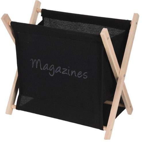 Koopp Porte-revues pliable en toile et bois