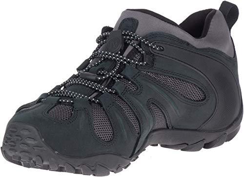 Merrell Men's Chameleon 8 Stretch Waterproof Hiking Shoe, Black/Grey, 10.5