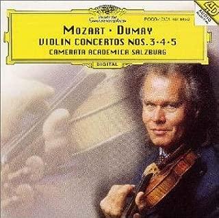 モーツァルト : ヴァイオリン協奏曲第3・4・5番