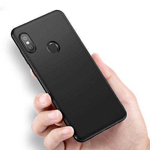 Vooway Nero Sottile Silicone Morbido TPU Custodia Cover Slim Case + Pellicola Protettiva per Xiaomi Mi Mix 2s (5.99') MS50181