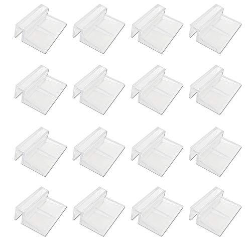Glasabdeckungs-Clips für Aquarien 24 Stück Glasabdeckung Halter 6mm 8mm 10mm 12mm Universale Halterungen Deckelhalterung für randlose Aquarien Klar