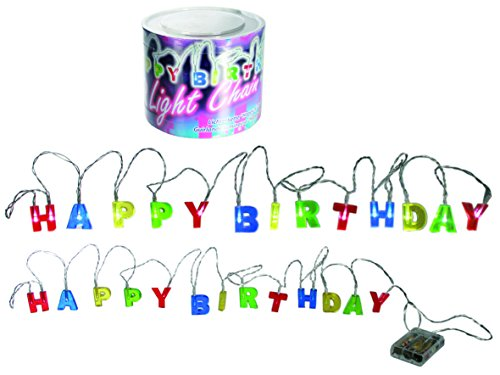 Out of the blue lichtketting met 15 leds, Happy Birthday, 3 Mignon batterijen (AA in PVC-doos, circa 2,30 m 57/8011