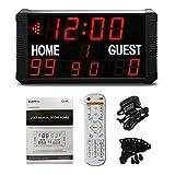 GAN XIN 14/24S Shot-clock LED Tabellone segnapunti elettronico digitale per pallacanestro ...