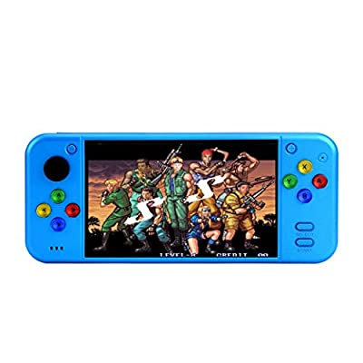 New 5.1 inch Large Screen Color Fashion Video Game Console builde in 8000 Games can be archived/Added/Deleted mp3 mp4 Dictionary e-Book HDMI Output Best Gift by HLF