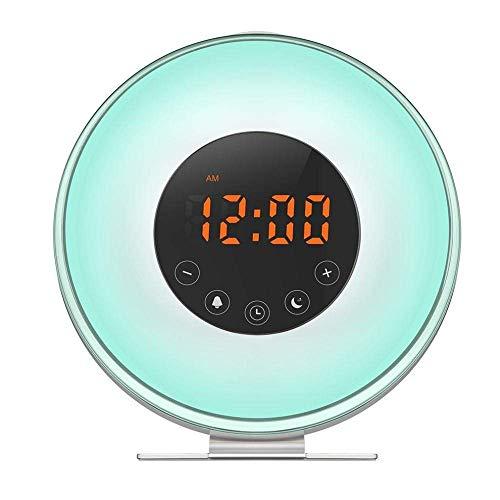 LLLKKK Lámpara de araña con 6 luces para salón, altura regulable, pantalla de cristal para comedor, casquillo E27, para cocina, dormitorio, estudio, color azul gradiente