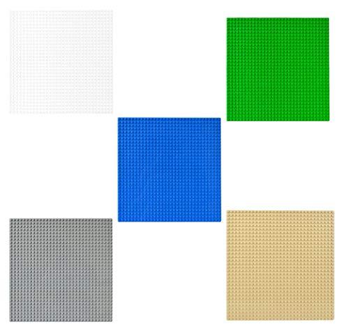 Modbrix 5 STÜCK Bausteine Grundplatte, 32 x 32 Noppen Bauplatte Platten, 25.5 x 25.5 cm