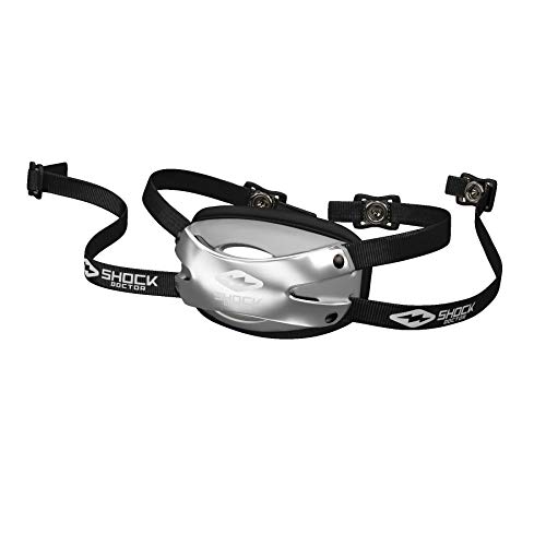 Shock Doctor 509-99-31-10 Ultra Pro Showtime Chin Strap Chrome Silver Adult-S/M