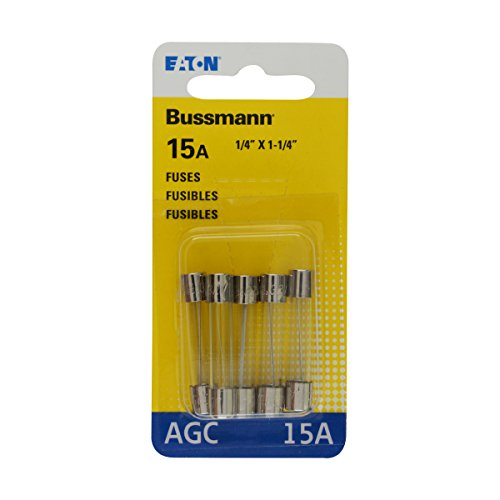 Bussmann BP/AGC-15 15 Amp Fast Acting Glass Tube Fuse