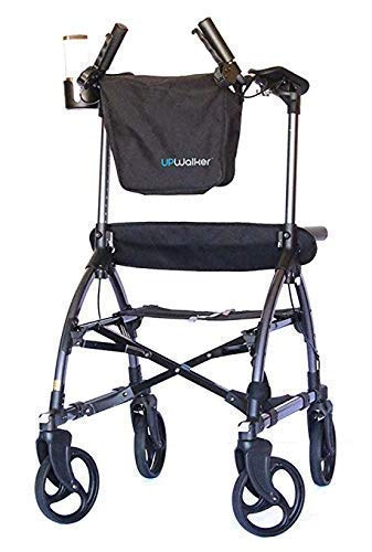 UPWalker Original Upright Walker – Stand Up Rollator Walker & Walking Aid with Seat – Standard Size