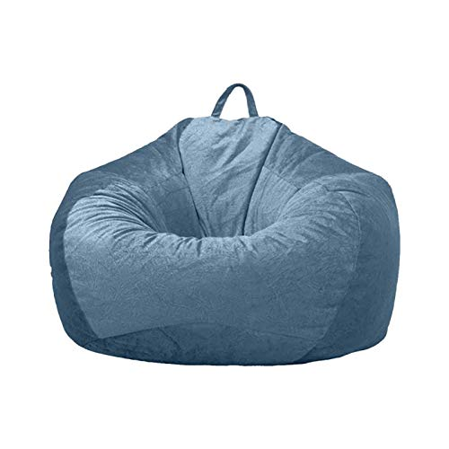 Sitzsack Stuhlbezug Kurzer Plüsch Sofa Couch Abdeckung Ohne Füllstoff mit Griff DIY Gefüllte Lazy Lounger Hohe Rückenlehne Sitzsack Stuhlbezug Waschbar für Erwachsene Kinder