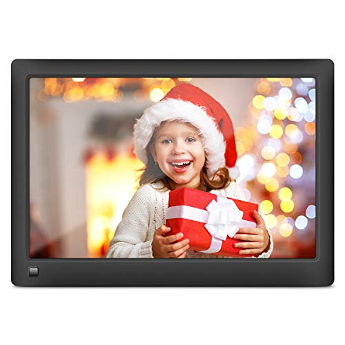 LOVCUBE Smart Digital Picture Frame,10 Inch WiFi Cloud Frame with 10GB Free Cloud Storage, Share Moments Instantly via APP or Web Portal, IPS Screen Photo Slideshow Calendar Motion Sensor(Black)