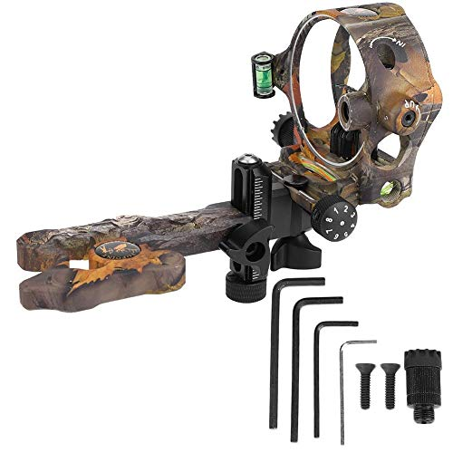 Conkergo 5 Pin Archery Sight with Light Micro Adjustable Bow Sight for Compound Bows