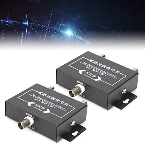 Receptor multiplexor de video, interfaz BNC DC12V Multiplexor de video de 2 canales, para fábricas de ascensores ⭐