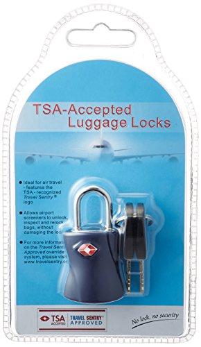 [シフレ] 南京錠 TSAロック 鍵 スーツケース シリンダー錠 siffler 5.5 cm ブルー