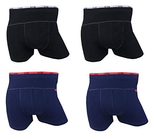 Onbekend C+3 katoenen boxershorts voor heren, pak van 4