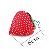 Soporte Pin aguja amortiguador de la forma de fresa suave almacenamiento de agujas bolsas de herramientas de bricolaje artesanal de punto de cruz de costura Inicio Accesorios de costura Sistema