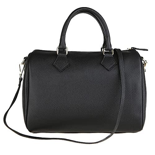 Chicca Borse Handbag Bauletto Borsa a Mano da Donna con Tracolla in Vera...