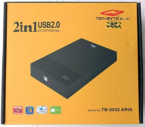 Terabyte 2 in 1 USB 2.0 External Hard Drive Casing (Black)